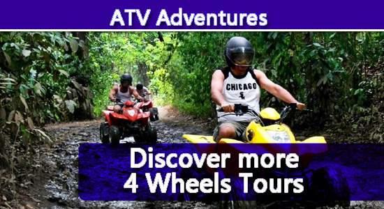 Jaco 4W heel ATV tours